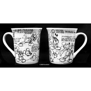 Zrike Disney® Mickey Sketchbook 14oz Mugs set of 2